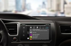 Apple CarPlay Music och musikspelaren i en Honda
