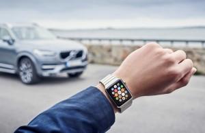 volvo on call på Apple Watch