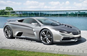 BMW McLaren supercar rendering