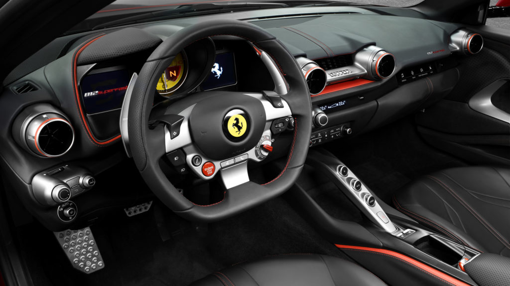 Ferrari 812 Superfast cockpit
