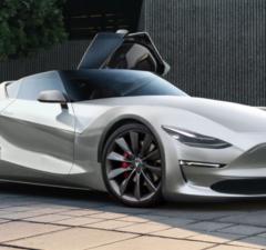 Tesla Roadster 2.0 fan render