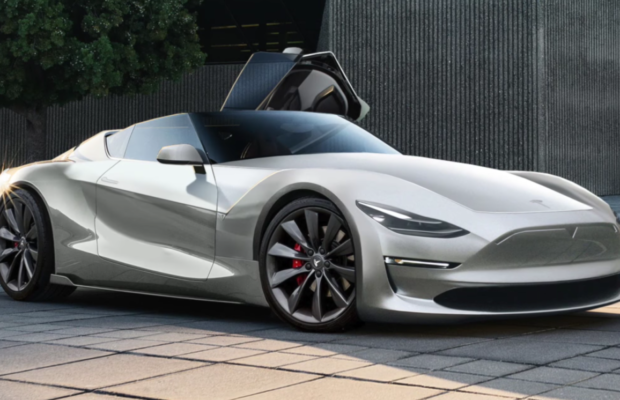 Tesla Roadster 2.0 fan render